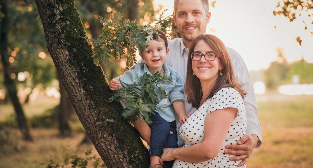 seance photo grossesse en famille à Toulouse