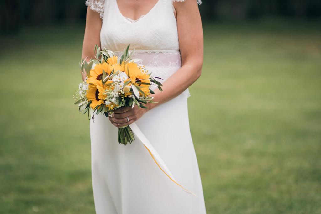 Photo du bouquet champêtre de la mariée