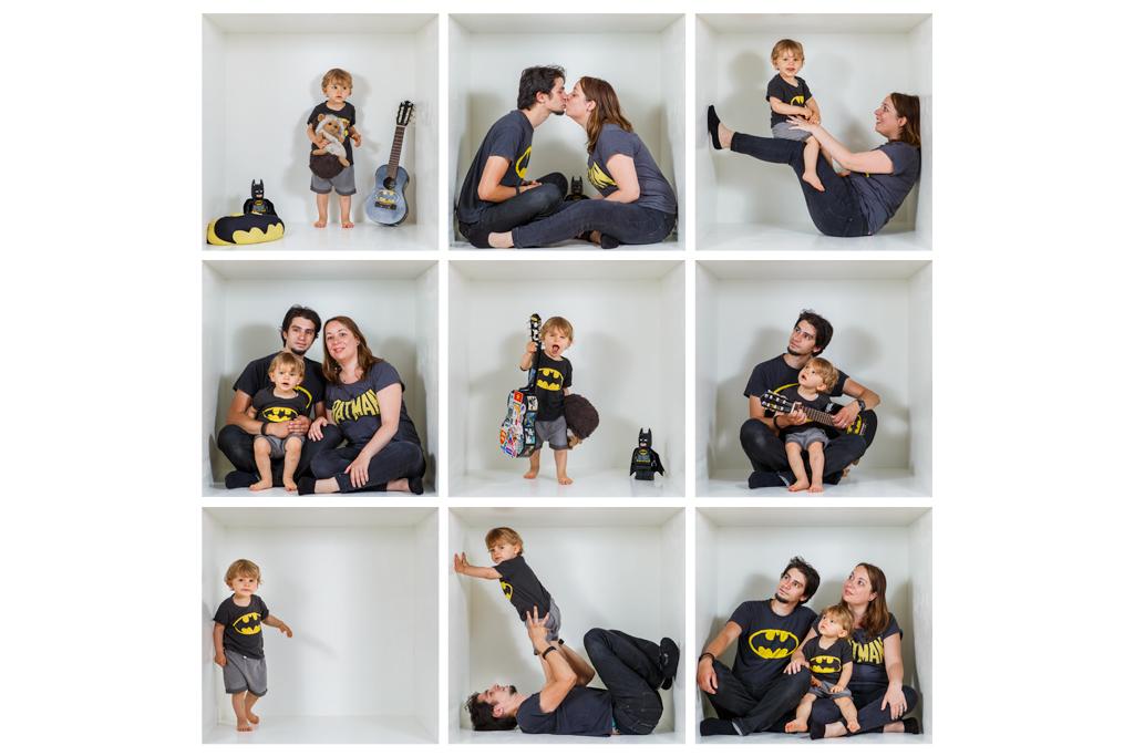 idee de photo de famille originale dans une boite Toulouse déguisé en Batman