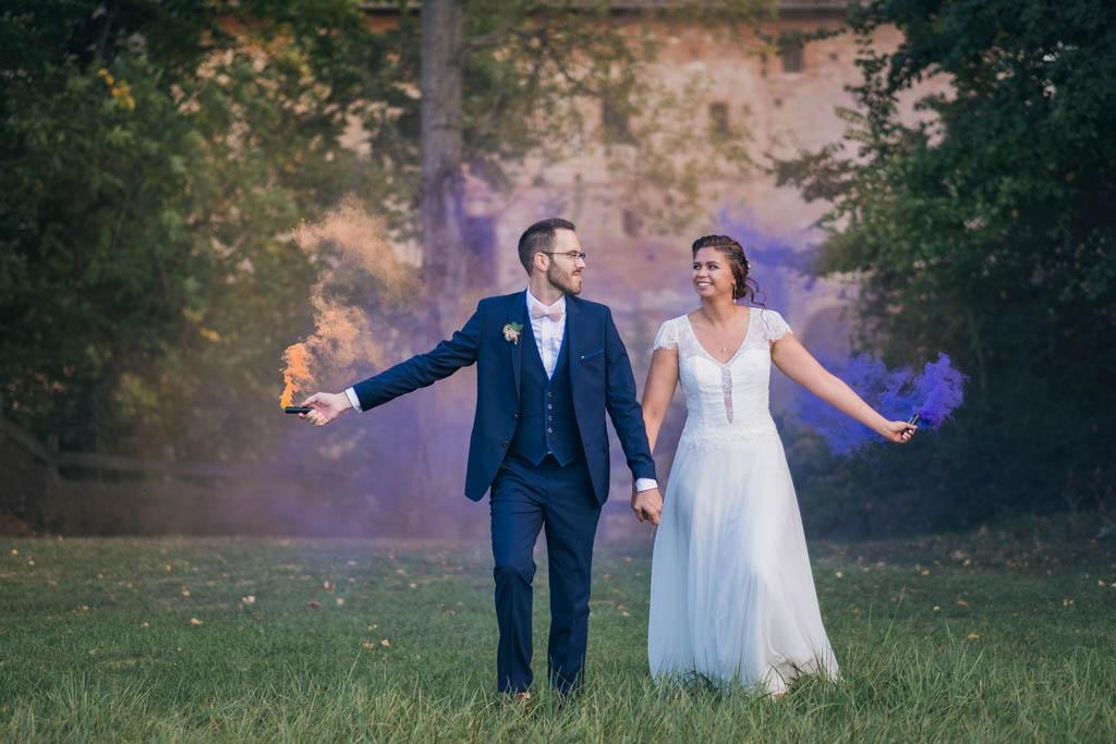 photographe mariage toulouse occitanie photos couple fumigene jolies histoires
